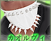 Spikey Face Mask - White