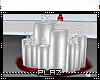 #Plaz# White Candle Tray