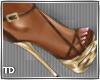 Brown Gold Sandal