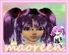 cute twin tail purple