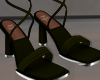 Green Strap Heels