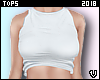 V| Cheap White Crop Top