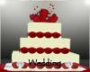 Wedding Cake Red Roses