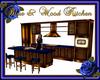 Blue & Wood Kitchen