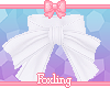 🎀 Neck bow white