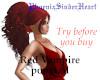 Red Vampire ponytail