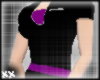 Blk Dress W~ Purple