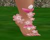 Pink Flowers Fairy Feet