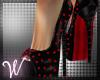 *W* Black Red Heels