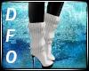 Der. White Winter Boots