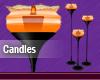 Orange Animated Candles