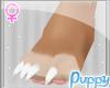 [Pup] Furry Feet White