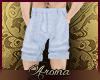 AOP=Blue chino shorts