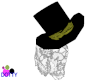 top hat with lace