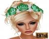 Flower Headdress (Green)