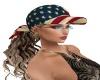 USA Flag Hat/Dirty Blond