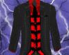 (W) BLACK STRIPE/ RED
