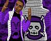 *CA* Purple Skull Hoody