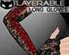 [SIN] Lacy Gloves RedBlk