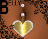 Gold Heart Belly Ring