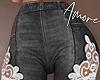$ Lace Jeans  M