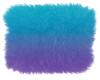 Neon Aqua Purple Fur Rug