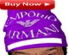 Armani cap purple
