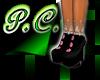 (PC)BlackLace W/PinkBttn
