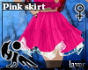 [Hie] Layer Pink Skirt