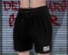 Black, shorts.