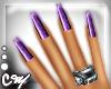 .CM Mix! nails purple