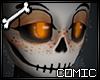 CSS| Orange Fem Skull