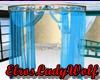 wedding blue crapery
