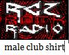 male dj club shirt
