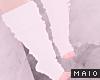 🅜 LEG WARMERS: white