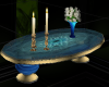 Blue Oval Coffee Table
