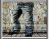 (N2)Blue Old Pants