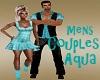 Mens Couples Aqua Shirt