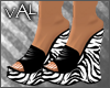 Val - Wedge Heel Zebra