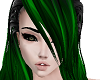 Long Green Black Hair F