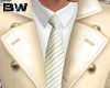 Gold White Suit Trench
