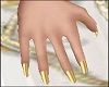 Gold Nails Dainty Hands