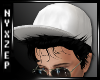 White Peek Cap BlackHair