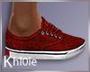 K red kicks sneakers