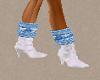 Winter Blue / White Boot