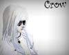 white W/blu streaked