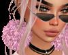 Pink Pom-Pom Earrings