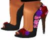 Black Leather RoseHeels2