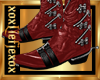 [L] Zipper RED Boots M