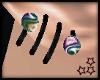 Jx Dazzle Ear Spiral M-R